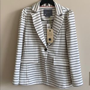 Antropologie striped blazer